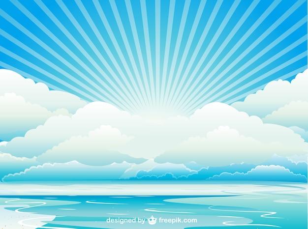 아름다운 바다에서 일출