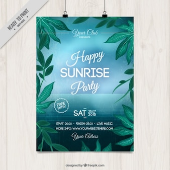 Sunrise party poster