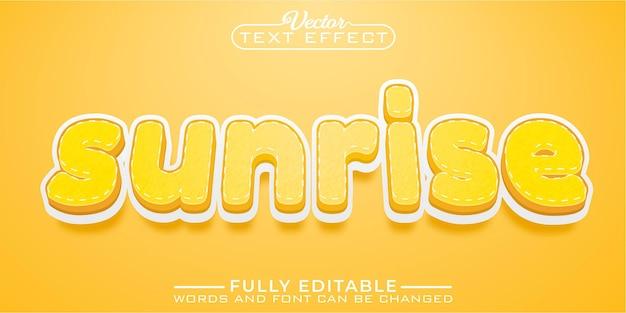 Sunrise summer editable text effect template