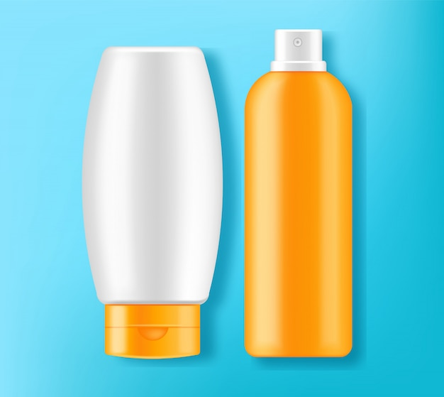 Sunscreen cream design 3d illustration