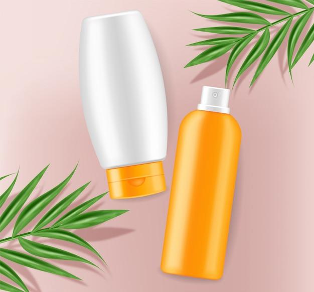 Sunscreen cream mock up