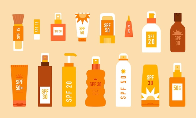 Sunscreen different types of sun protection cosmetics