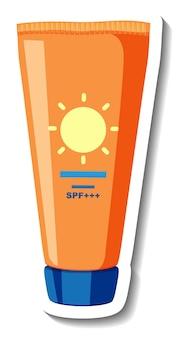 Sunscreen lotion product cartoon sticker