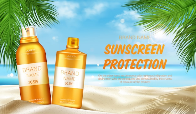Sunscreen protection cosmetic