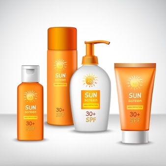 Sunscreen protection cosmetics