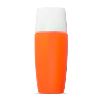 Sunscreen protection cream cosmetic bottle