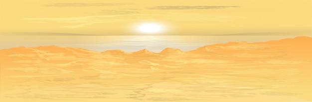 Закат на море. фоновая картинка. иллюстрация.
