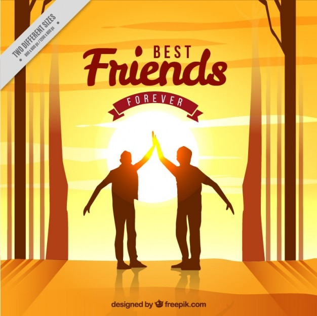 Sunset background of friendship day