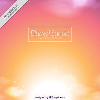 Sunset background with blurred effect