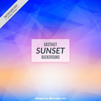 Sunset background with polygonal shapes
