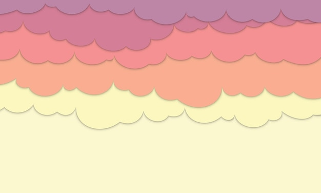 Sunset clouds background with space for text. new style for your banner website.