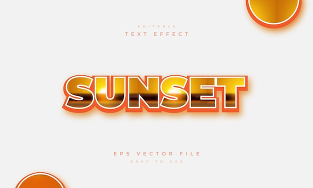 Sunset editable text effect with sunset pattern
