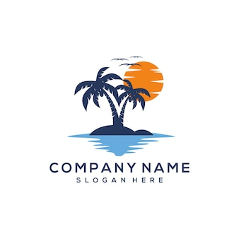 Sunset logo design