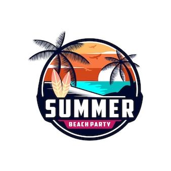 サンセットサマービーチのロゴ