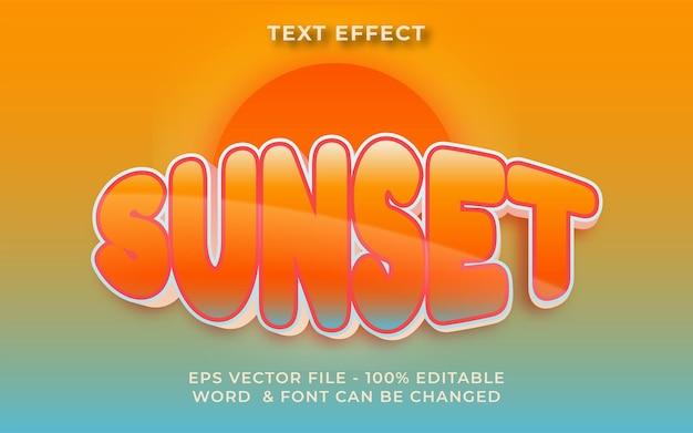 Sunset text effect editable text effect