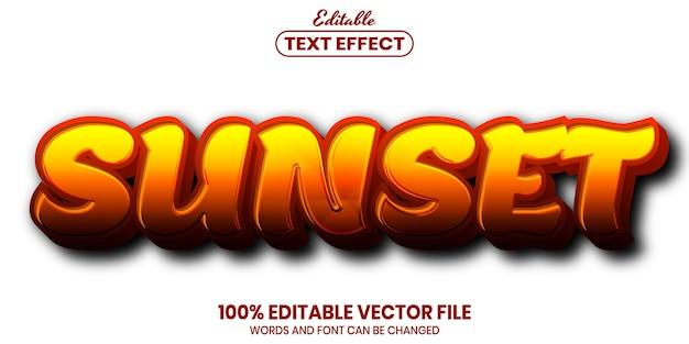 Закатный текст, редактируемый текстовый эффект в стиле шрифта