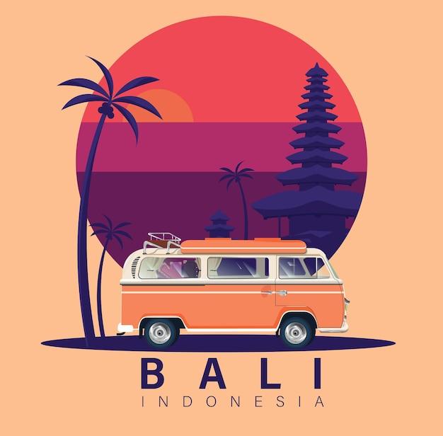 インドネシアのサンセットビューバリトロピカルアイランド