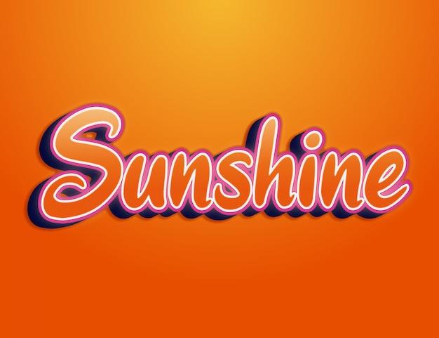 Sunshine 3d легко редактируемый эффект шрифта