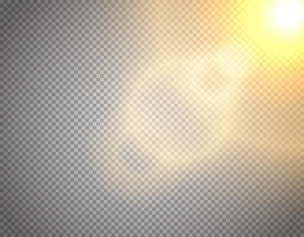Векторный эффект солнечного света, изолированные на прозрачном фоне