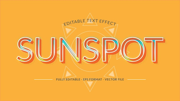 Sunspot text effect made with bright and vibrant color