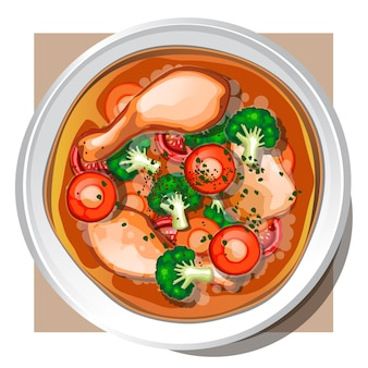 Sup ayam (치켄 스프)