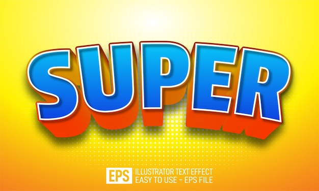 Super 3d text editable style effect template