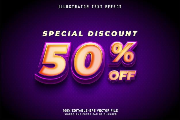 スーパー3dテキストスタイルの特別割引50%