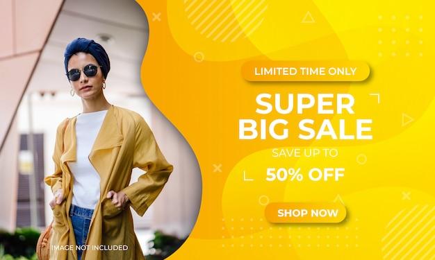 Super big sale promotion banner template