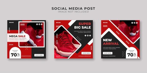 Супер большая распродажа в социальных сетях и шаблон поста в instagram
