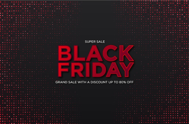 Super black friday sale with abstract halftone background