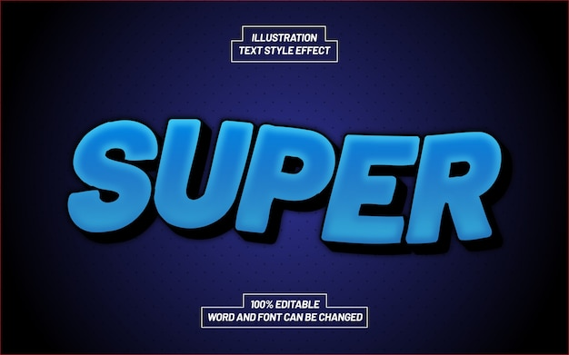 Super blue text style effect