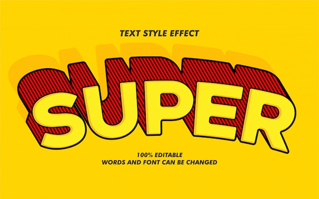 Super bold text style effect