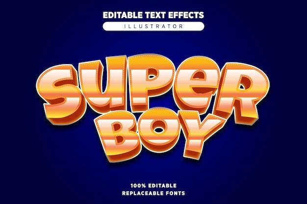 Super boy style text effect