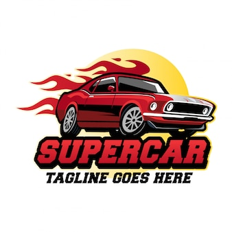 Super car logo design concept