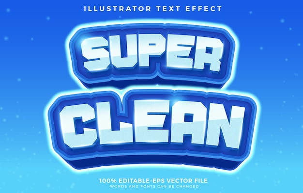 Super clean editable text effect