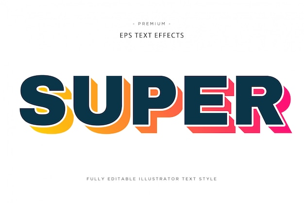 Super colorful text effect