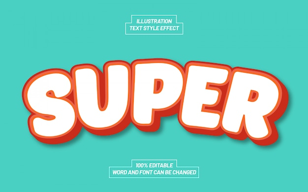 Super comic text style effect