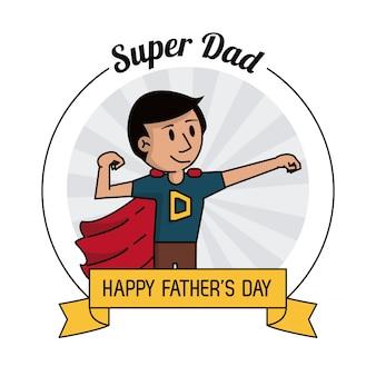 Super dad hero strong