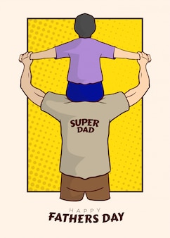 Super dad illustration vector