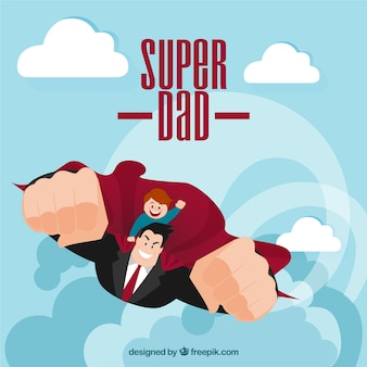 Super dad illustration