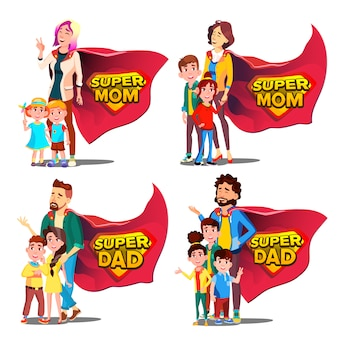 Super dad, mom  mother's and father's day.