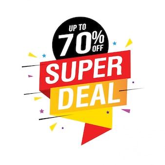 Super deal 70% off banner