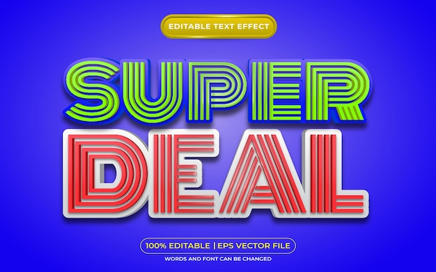 Super deal editable text effect template style