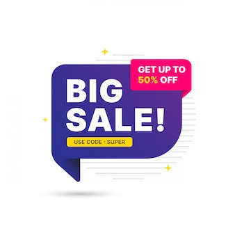 Super deal sale banner template design, big sale special offer. end of season special offer banner. abstract promotion graphic element.