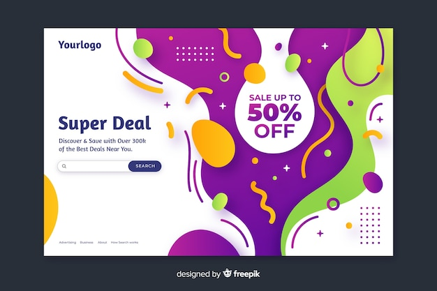 Super deal sale landing page