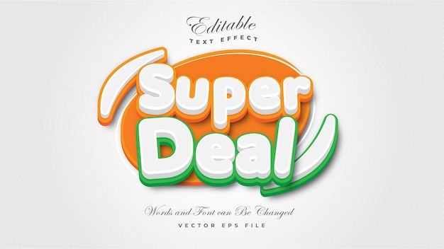 Super deal text effect
