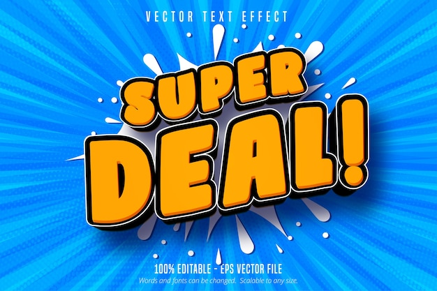 Super deal text, shopping style editable text effect