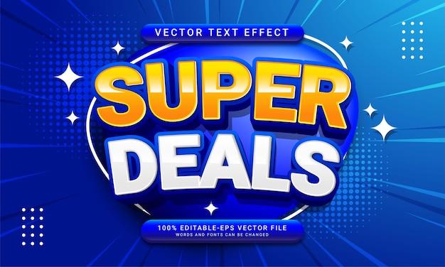 Супер предложения редактируемый текстовый стиль эффект тематическое продвижение продаж