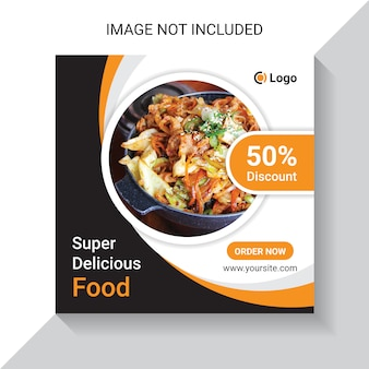 슈퍼 맛있는 음식과 식당 음식 소셜 미디어 인스 타 포스트