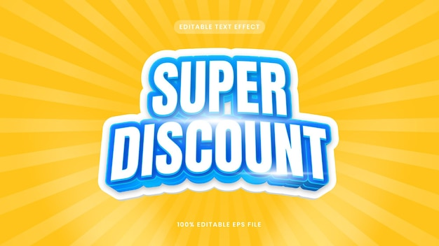 Super discount editable text effect